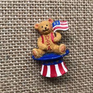 Adorable 1999 USA Bear Brooches